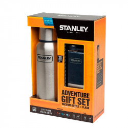 Набор Термос+Фляга Stanley Adventure Steel+Blue 750 ml + 150 ml