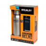 Набор Термос+Фляга Stanley Adventure Steel Blue 750 ml + 150 ml - фото 1 на сайте everymart.ru